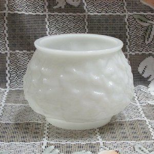 E.O. Brody Vintage Milk Glass Vase Round Snowball